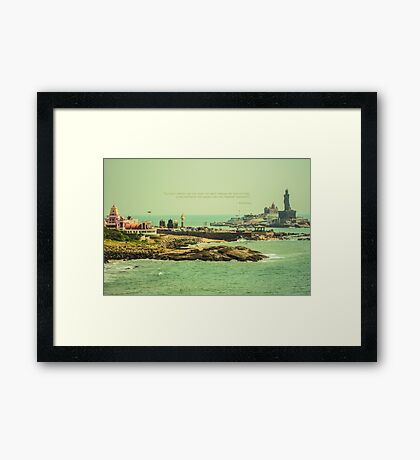 Do not dwell in the past... Framed Print