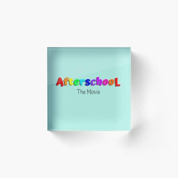 Fun colorful AfterschooL design Acrylic Block