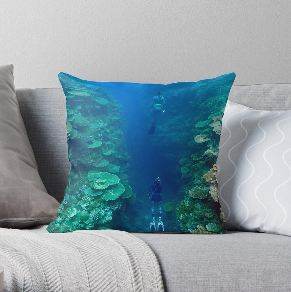 Bandjin Canyons Throw Pillow
