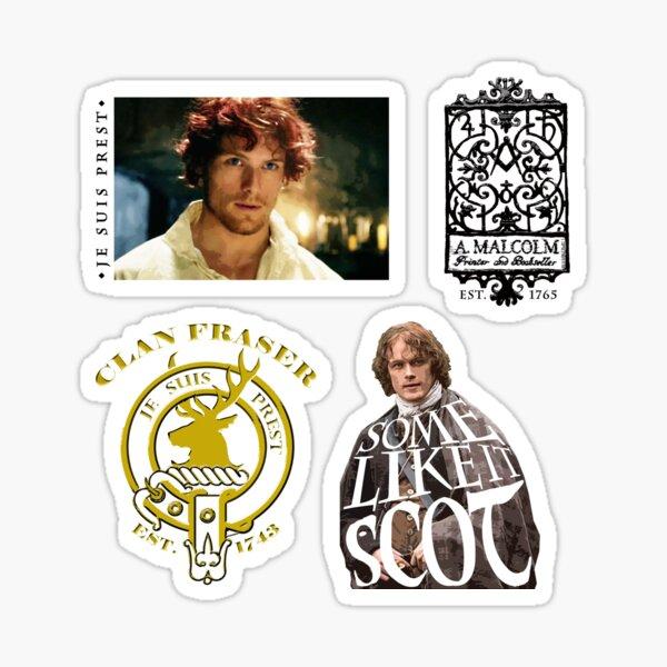 More About Jamie Fraser - Outlander Pack 3 Sticker