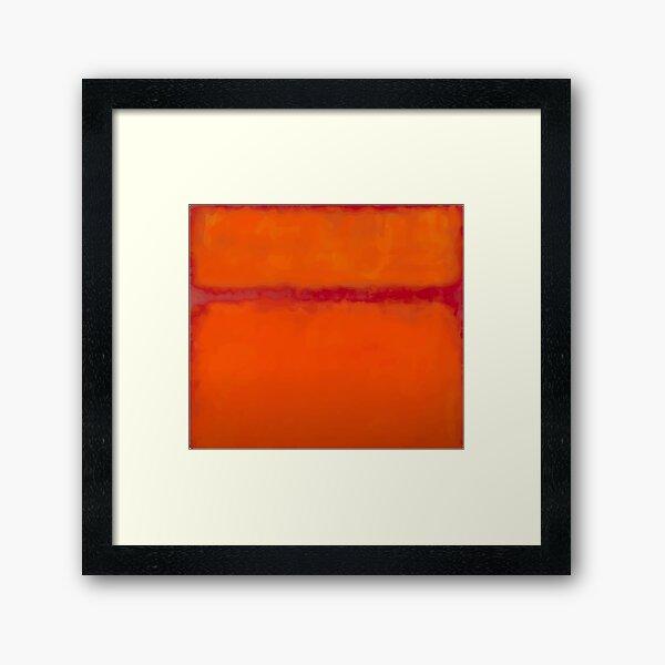 mark rothko orange Framed Art Print