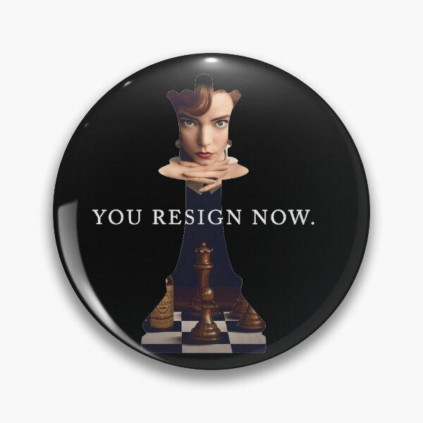 Queens Gambit Chess Piece Pin