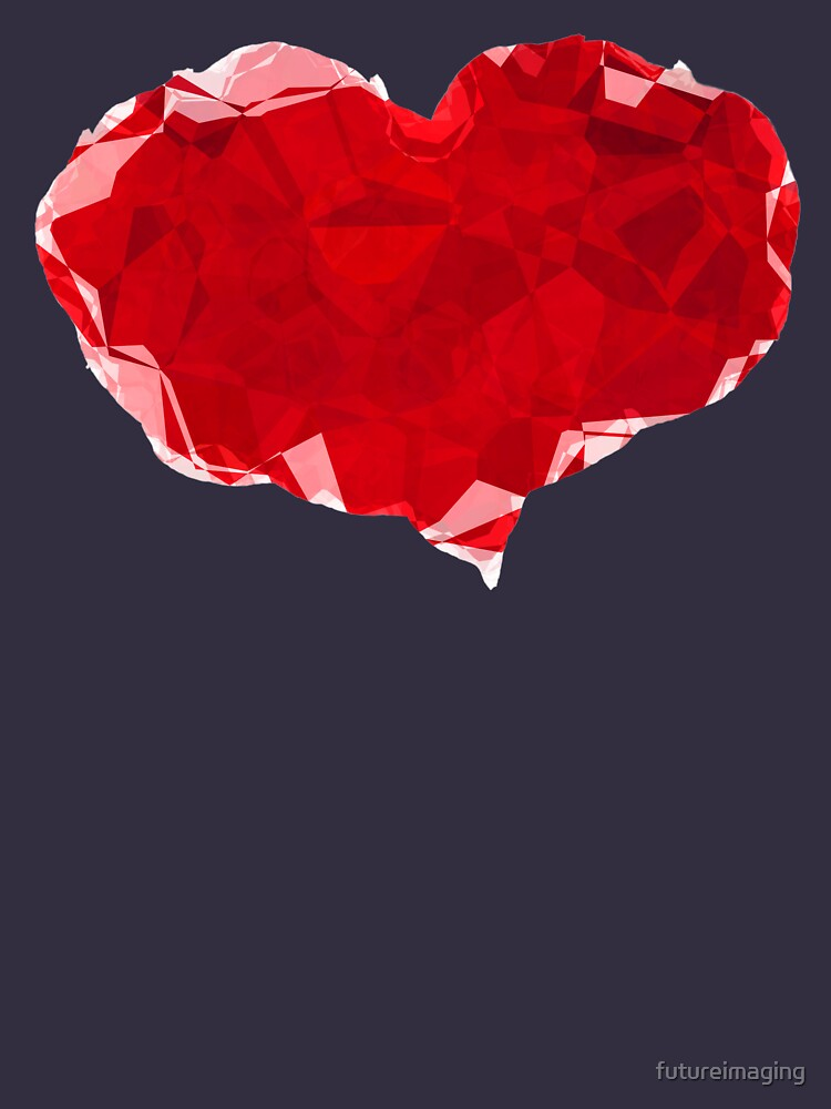 Red Pink Heart Abstract Polygon Art by futureimaging