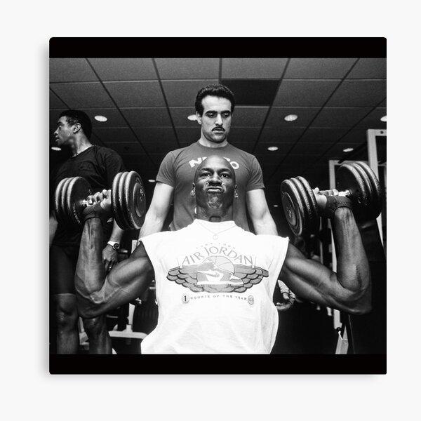 Michael Jordan - Workout Black / White Canvas Print