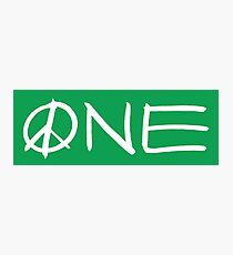 ONE peace sign Photographic Print