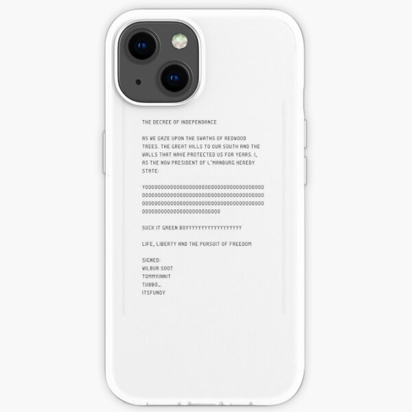 The L'manberg decree of independence  iPhone Soft Case