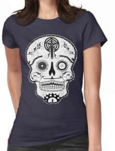 Cogs and Chains skull Womens Fitted T-Shirt