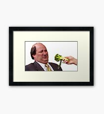 The Office Kevin Doesn't Like Broccoli Framed Print