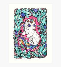 Unicorn  kitty Art Print