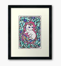 Unicorn  kitty Framed Print