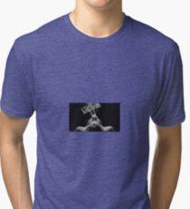 Girl Smoking Black and White Tri-blend T-Shirt