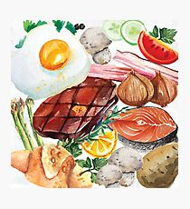 Painted Food Photographic Print