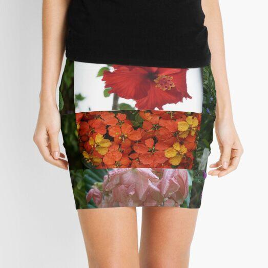 Flower Matrix 3 Hibiscus, Jasmine Mini Skirt