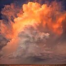 Stormy sunset clouds over Moreton Bay by Keiran Lusk