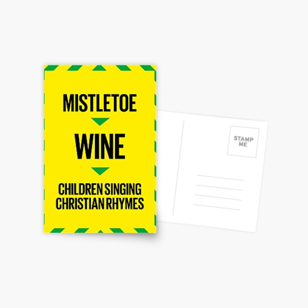 xmas card 1 - Cliff Postcard