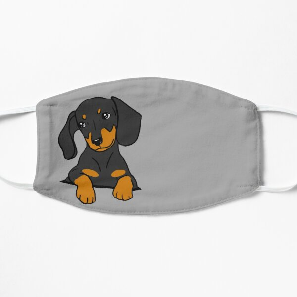 Dachshund Puppy in Your Pocket Grey Flat Mask