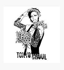 Uta - black and white - Tokyo Ghoul Photographic Print