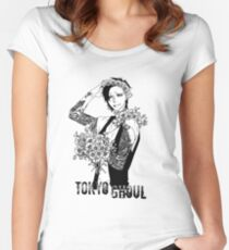 Uta - black and white - Tokyo Ghoul Women's Fitted Scoop T-Shirt