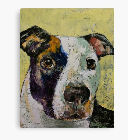 Pit Bull Portrait Canvas Print