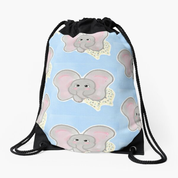 My dumbo is sleepy Drawstring Bag