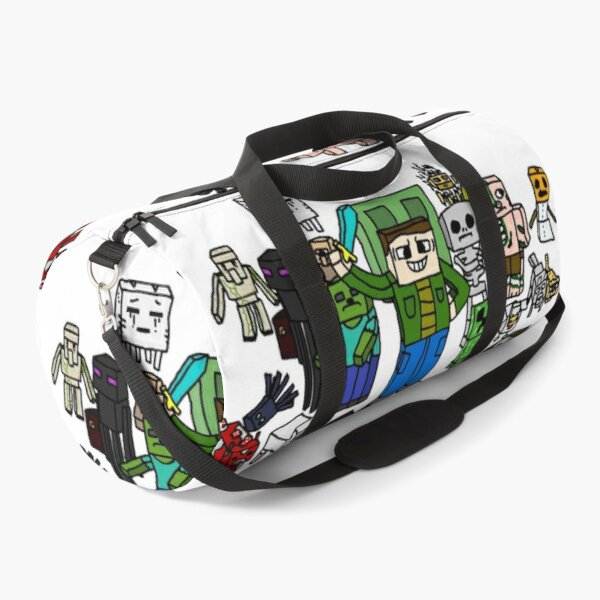 Sketchy Minecraft Characters Duffle Bag