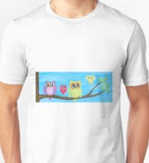 Owl Family on tree II Unisex T-Shirt