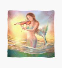 Beautiful  fantasy mermaid plays on violin on sunset Scarf