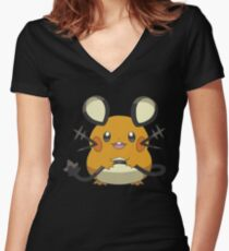 Dedenne Women's Fitted V-Neck T-Shirt