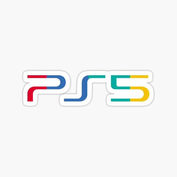 Logo PS5 en couleur - blanc Sticker