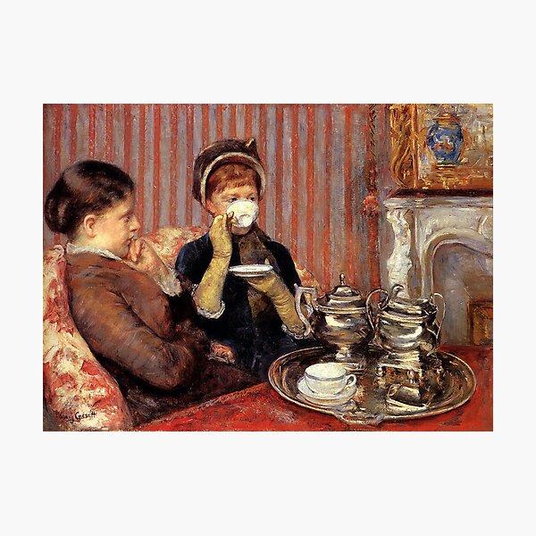 The Tea By Mary Cassatt Photographic Print