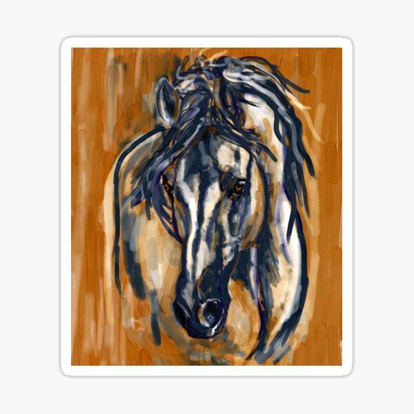 Blue Horse  Sticker