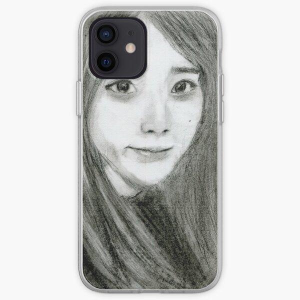 Realistic IU Drawing Art -- Lee Ji-eun Graphite Pencil iPhone Soft Case