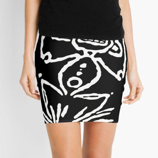 pictogram 5 in white Mini Skirt