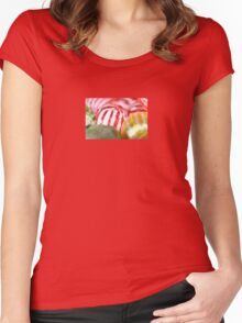 Macro of Striped Hard Candy Women's Fitted Scoop T-Shirt