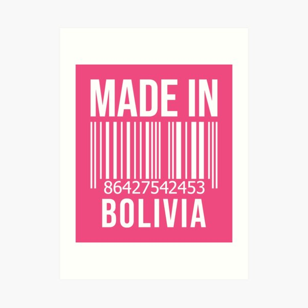 Made in Bolivia for Women Art Print