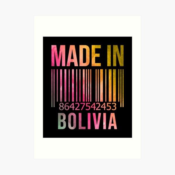 Made in Bolivia in Watercolor Art Print