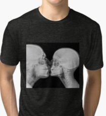 Kissing Couple. Two people kissing under x-ray  Tri-blend T-Shirt