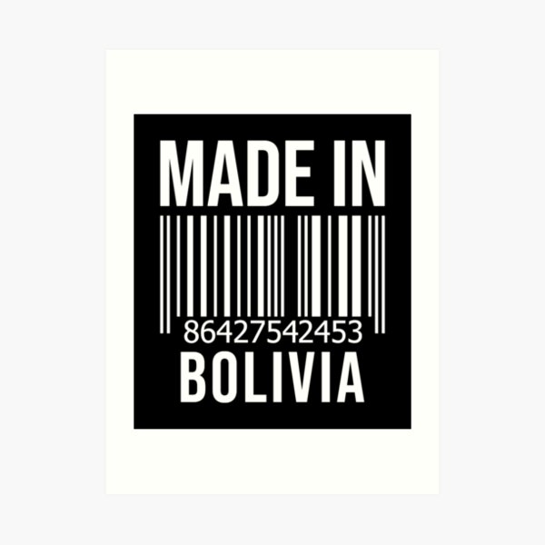 Made in Bolivia Art Print