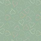 Hearts - pistachio by Morag Anderson