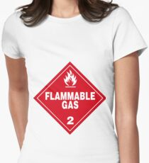 Flammable gas Women's Fitted T-Shirt