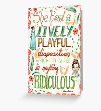 Jane Austen - Pride and Prejudice - Quote Greeting Card
