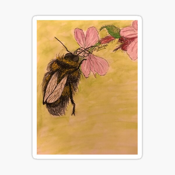 Busy Bumble Bee Sticker