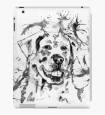Abstract Ink - Golden Retriever Black and White iPad Case/Skin