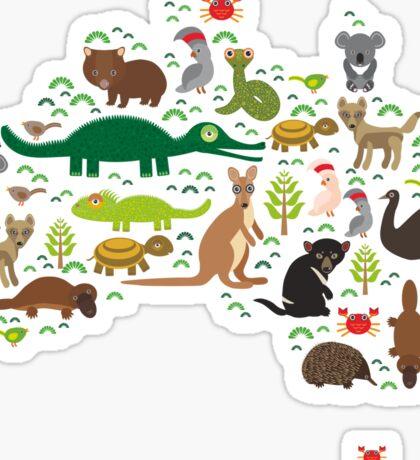 Australian animal map  Sticker