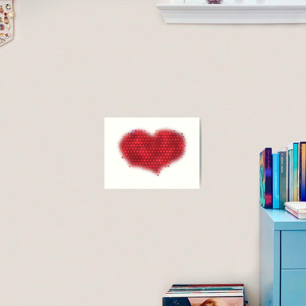 Glowing Red Heart Art Print