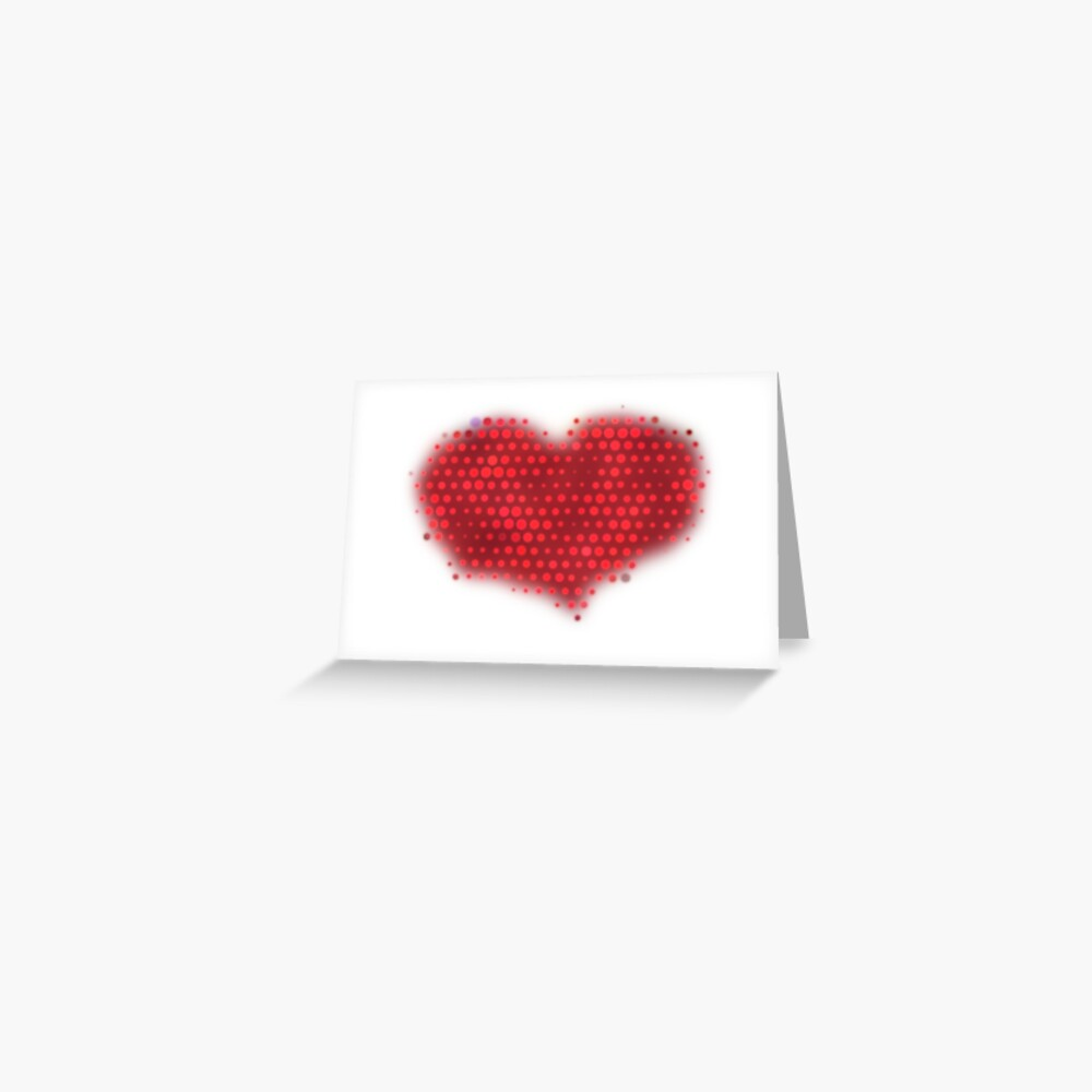 Glowing Red Heart Greeting Card
