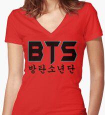 Camiseta entallada de cuello en V ♥ ♫ BTS-Bangtan Niños K-Pop Ropa y teléfono / iPad / Ordenador portátil / MackBook Estuches / Pieles y bolsos y Decoración del hogar y estacionario ♪ ♥