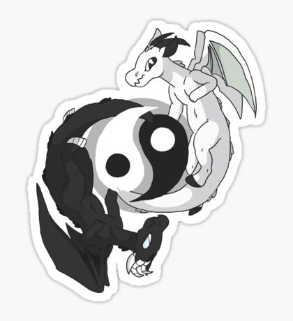 Yin & Yang Dragons Sticker