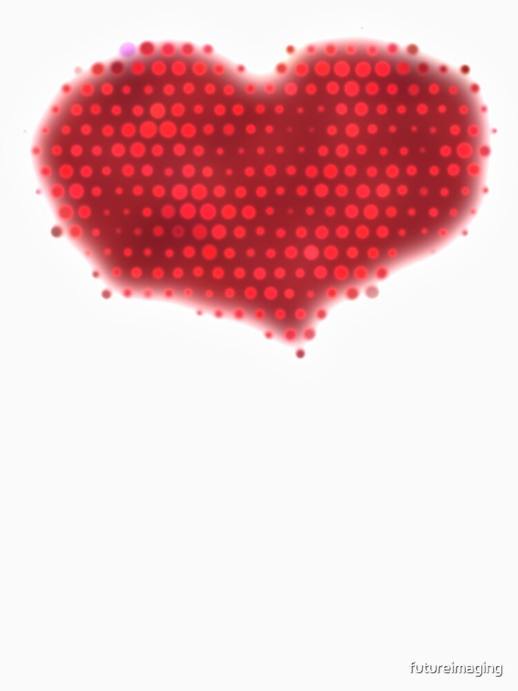 Glowing Red Heart by futureimaging