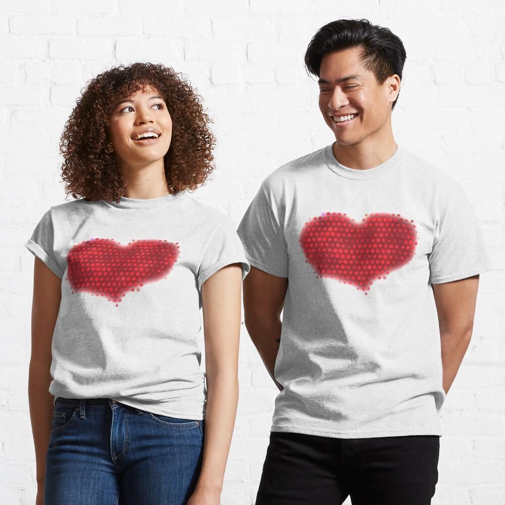 Glowing Red Heart Classic T-Shirt